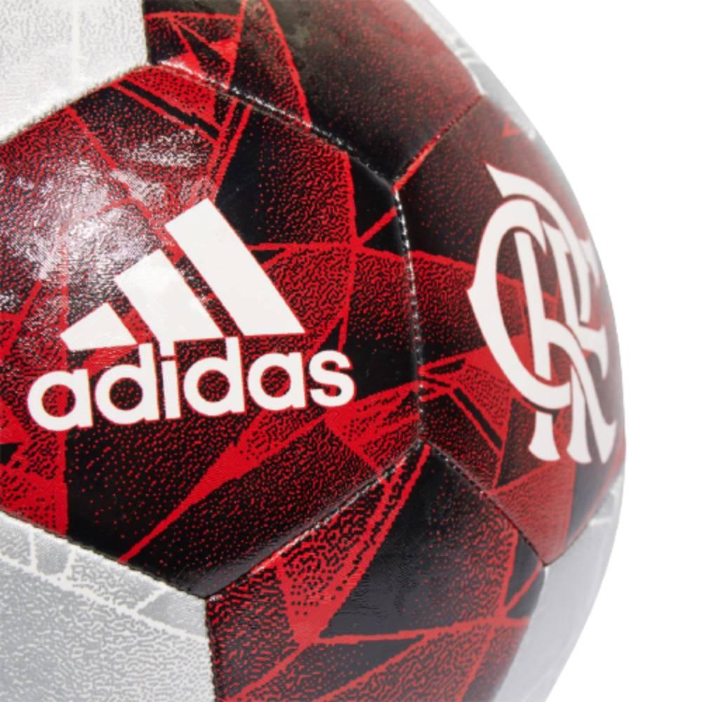 Bola Adidas Flamengo II Clube Campo Vermelho Prata