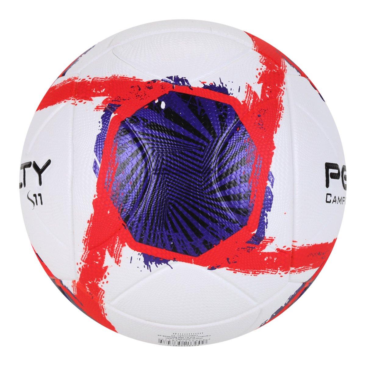 Bola de Futebol Campo Penalty S11 - Branco e Roxo