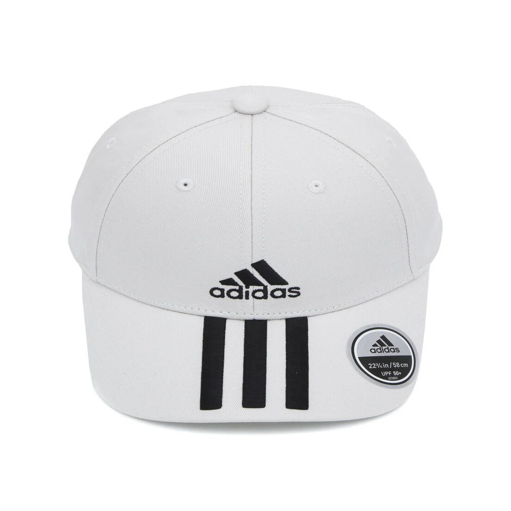 Boné Adidas Baseball 3S - Branco e Preto