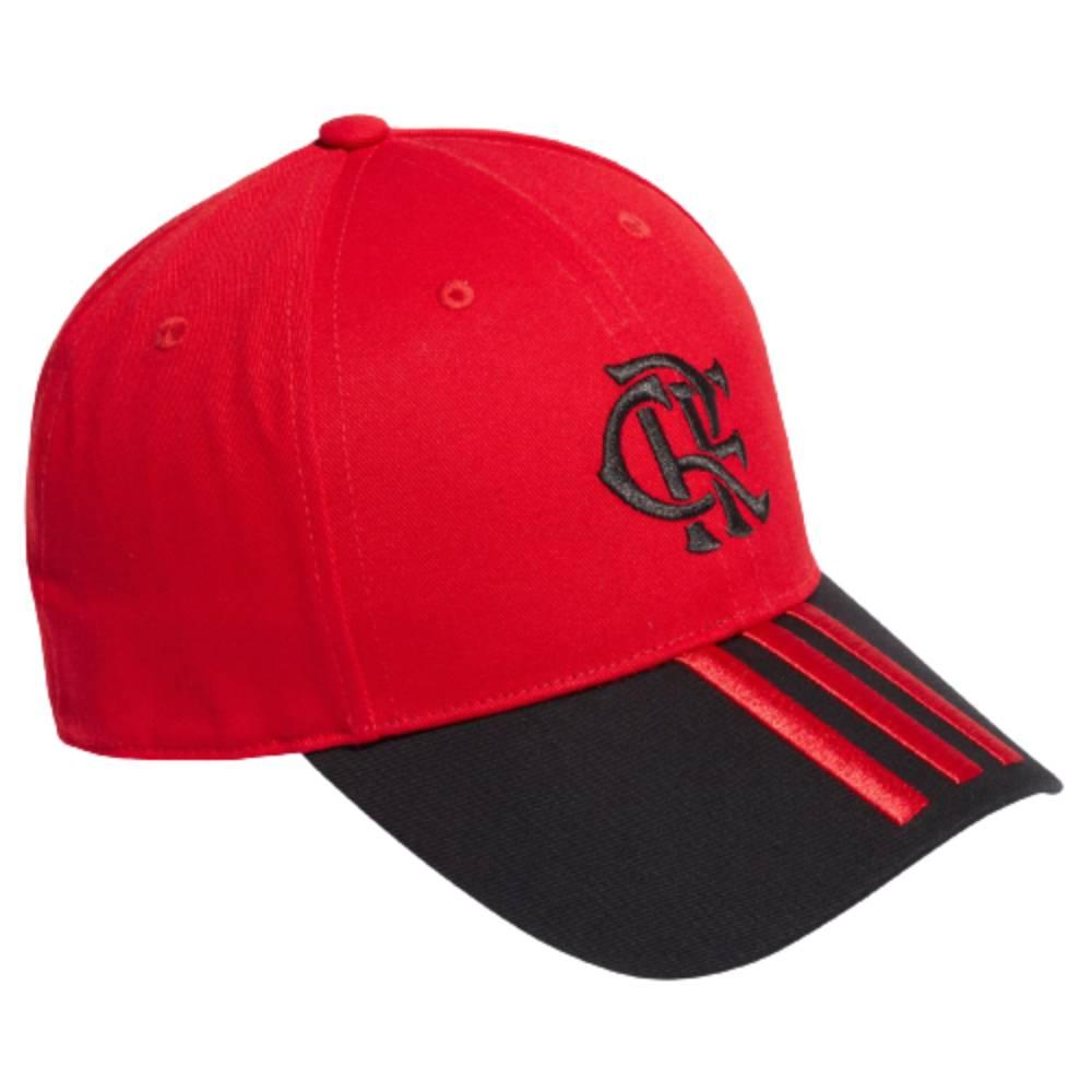 Boné Adidas Flamengo CRF Vermelho Preto