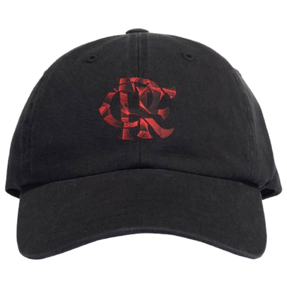Boné Adidas Flamengo Snapback Dad Preto Vermelho