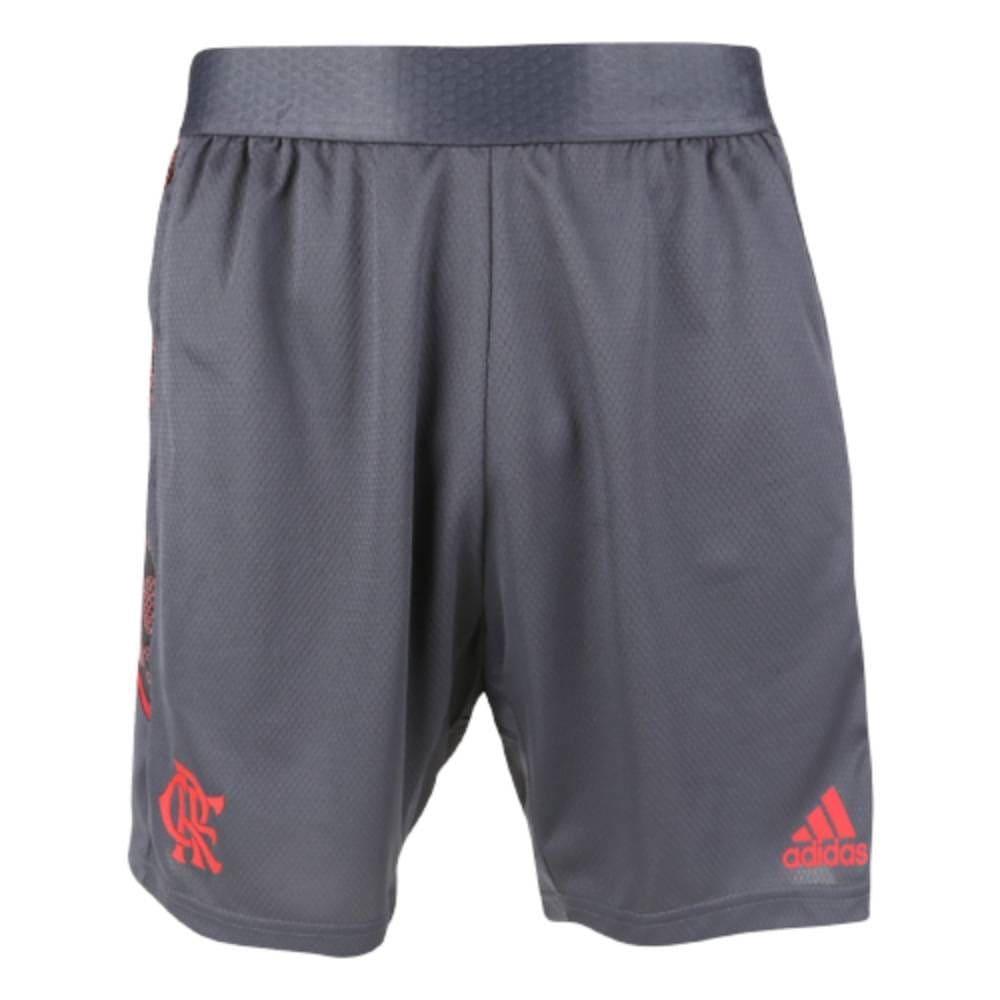 Bermuda Adidas Flamengo treino 21/22 - Cinza/Vermelho