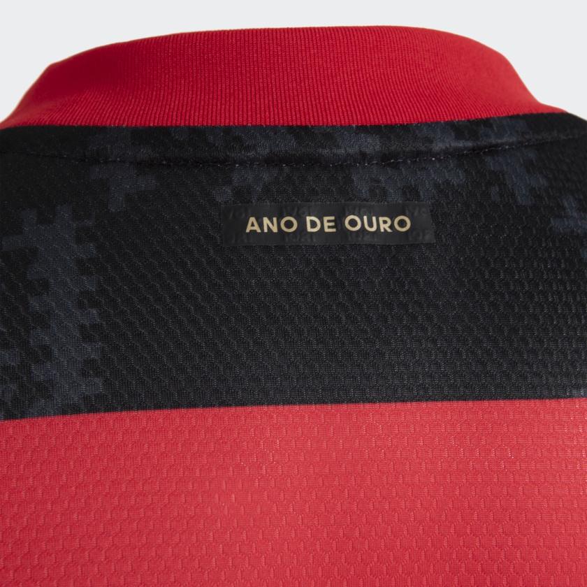 Camisa Oficial Flamengo I 21/22 Infantil Preto Vermelho