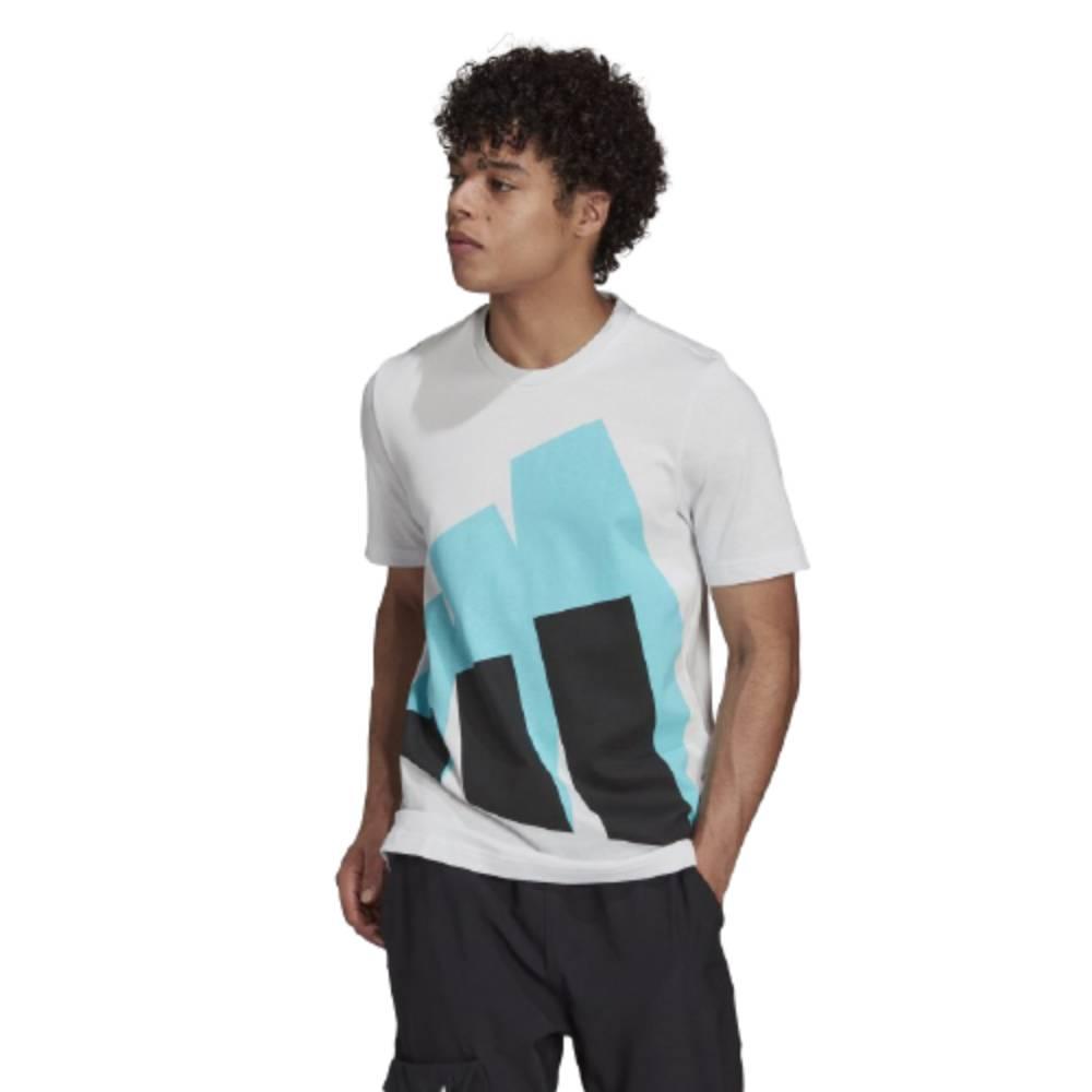 Camisa Adidas Gráfica Future Block Branco Azul Preto