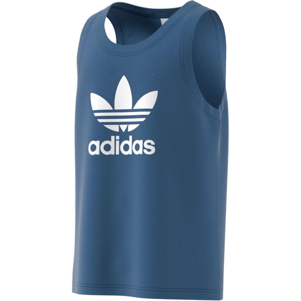 Camisa Adidas Regata Trefoil - Azul e Branco