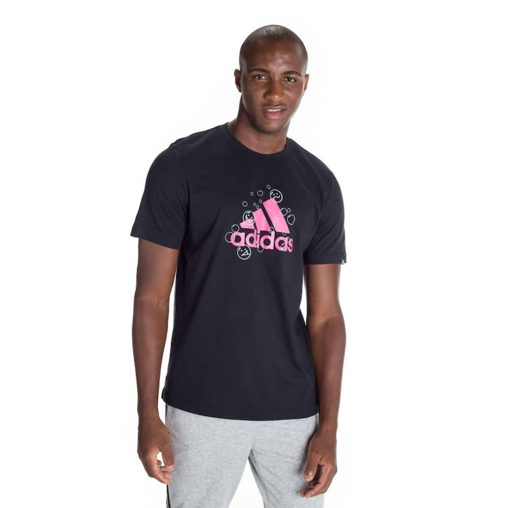 Camisa Adidas Smile - Preto e Rosa