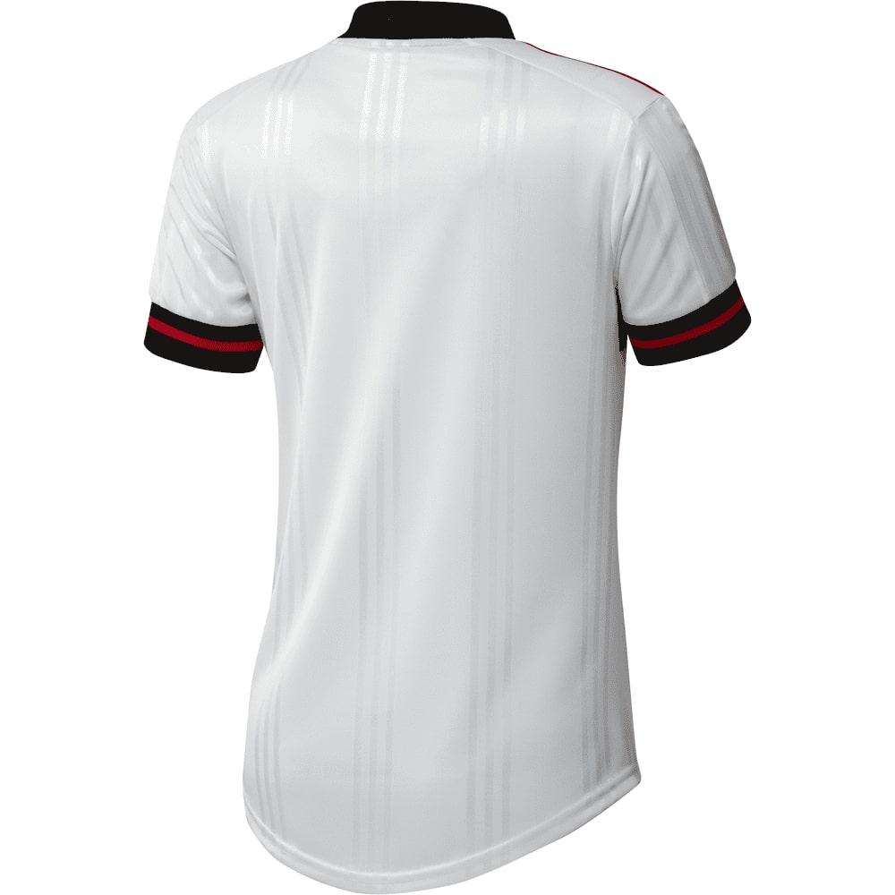 Camisa Oficial Flamengo II 20/21 Feminina Branco Preto Vermelho
