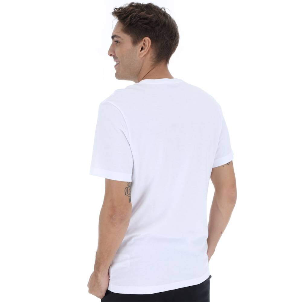Camisa Oficial Nike Standard Fit Just do It - Branco e Preto