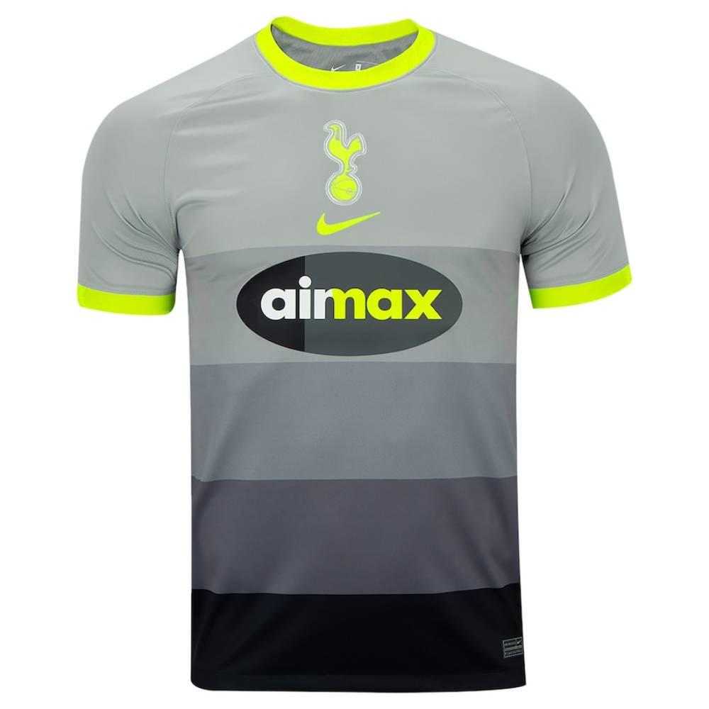 Camisa Oficial Tottenham Air Max Torcedor Pro Masculino Cinza Verde