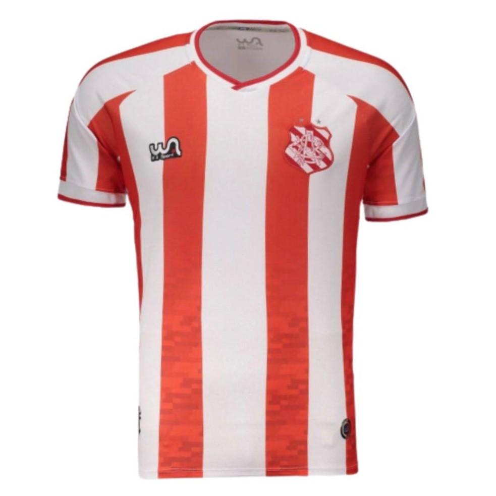 Camisa Oficial Bangu Atlético Clube I 20/21 Masculino Vermelho Branco