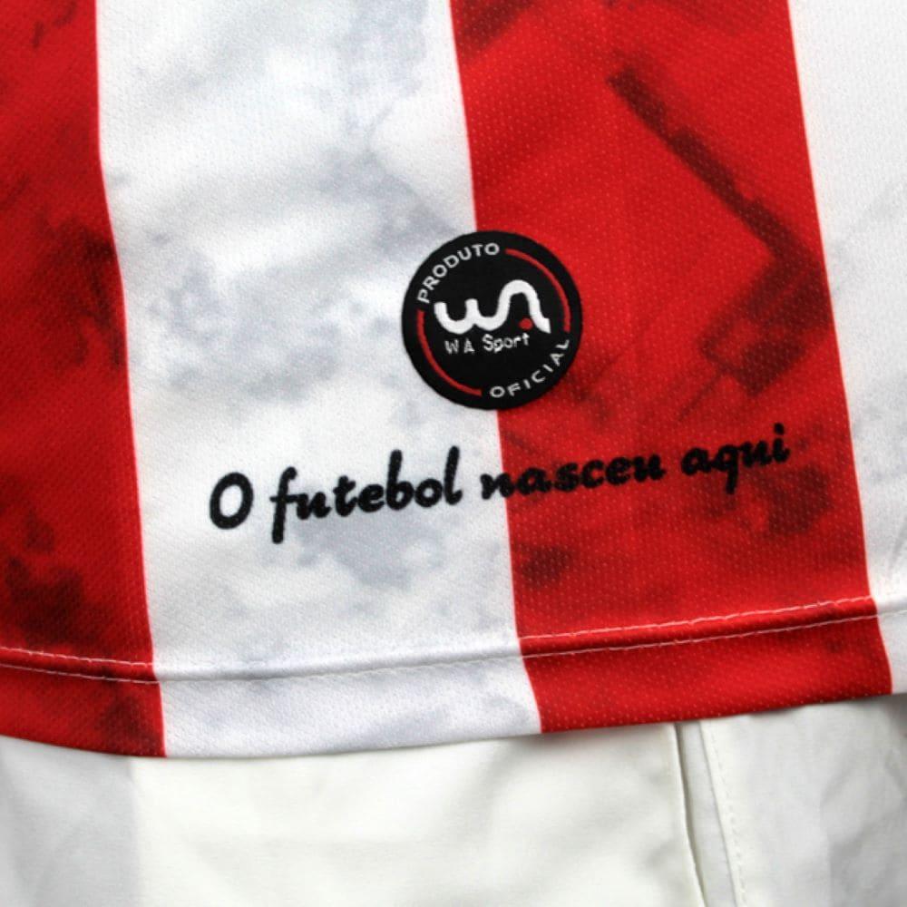 Camisa Oficial Bangu Atlético Clube I 21/22 Masculino Vermelho Branco