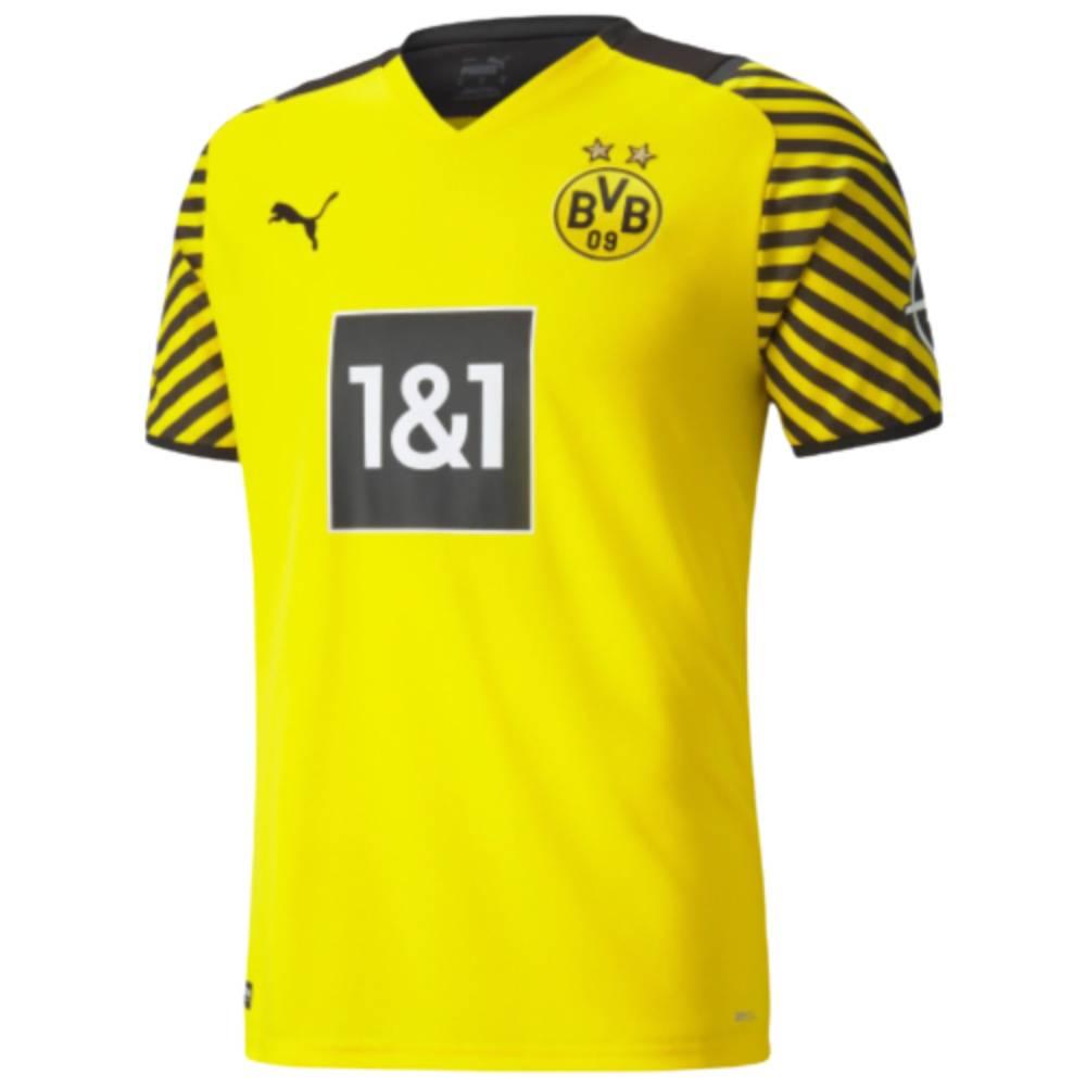 Camisa Oficial Borussia Dortmund I 21/22 Masculino Amarelo Preto