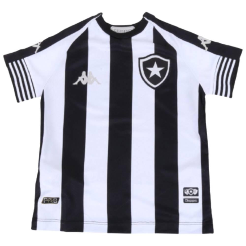 Camisa Oficial Botafogo I 20/21 Infantil Preto Branco