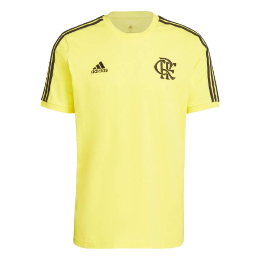 Camisa Oficial Flamengo 3 Stripes Amarelo Preto