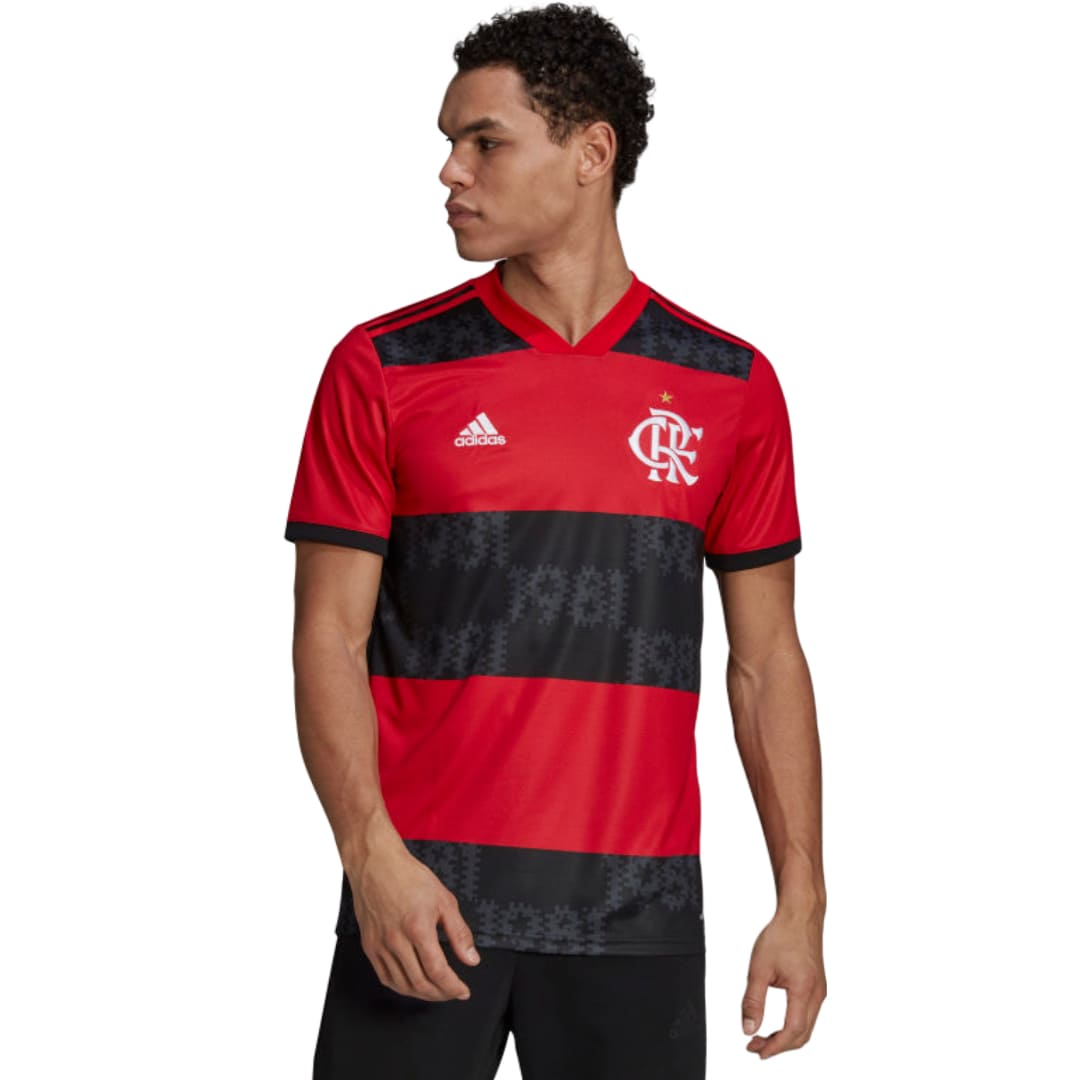Camisa Oficial Flamengo I 21/22 Masculino Vermelho Preto