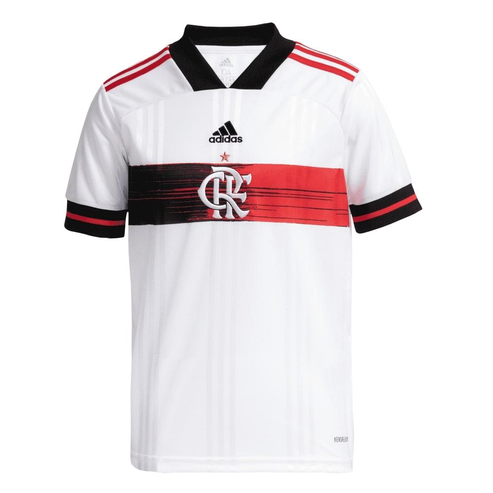 Camisa Oficial Flamengo II 20/21 Infantil Branco Vermelho Preto