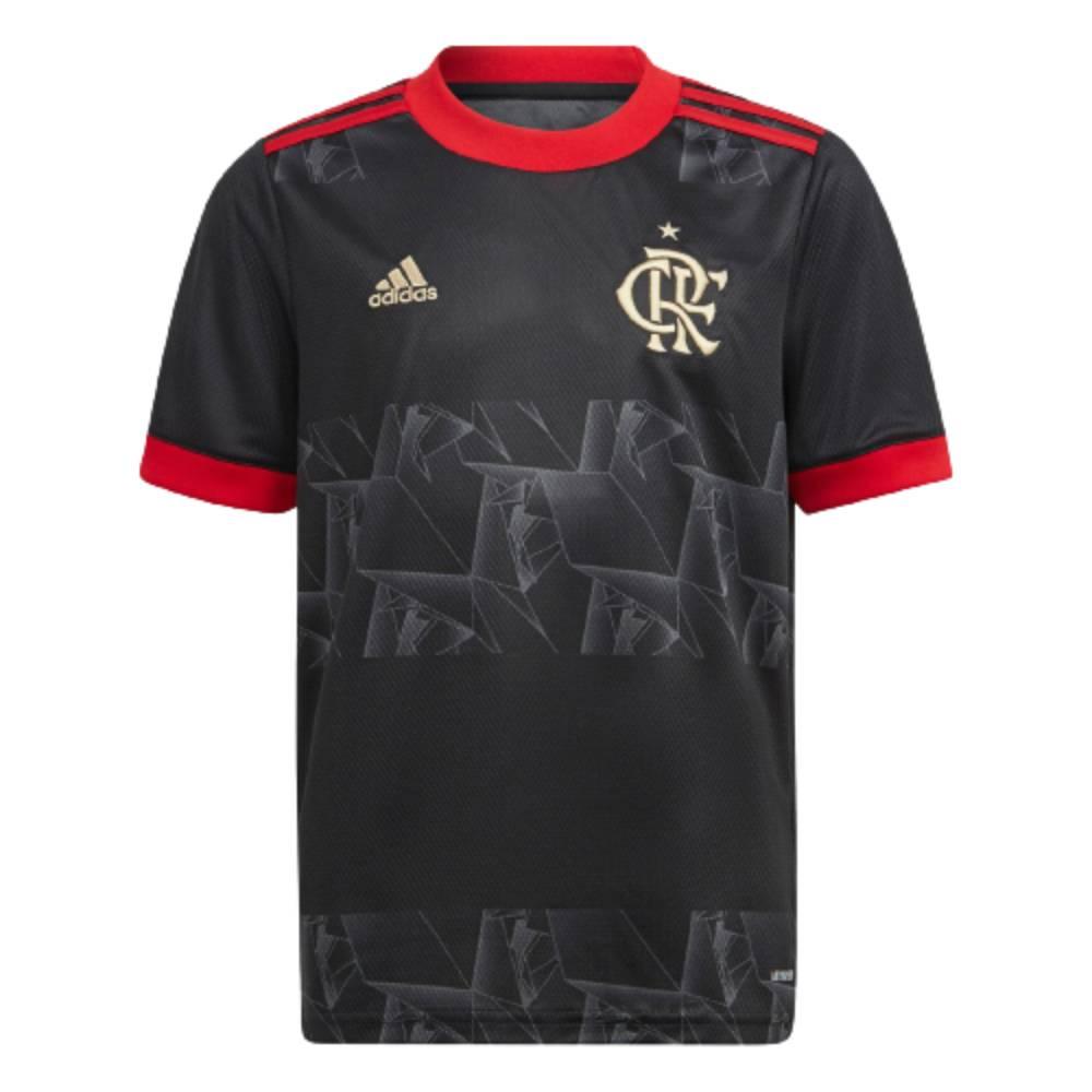 Camisa Oficial Flamengo III 21/22 Infantil Preto Dourado