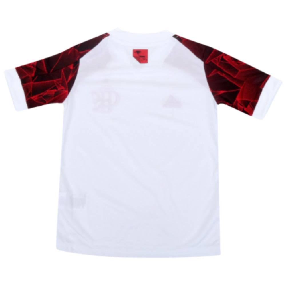Camisa Oficial Flamengo II 21/22 Infantil Branco Vermelho