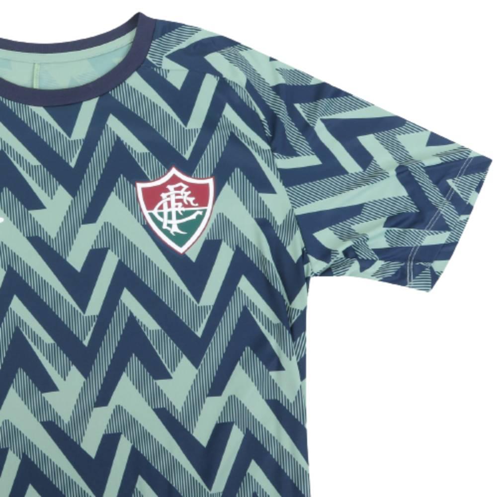 Camisa Oficial Fluminense Aquecimento 21/22 Masculino Marinho Verde