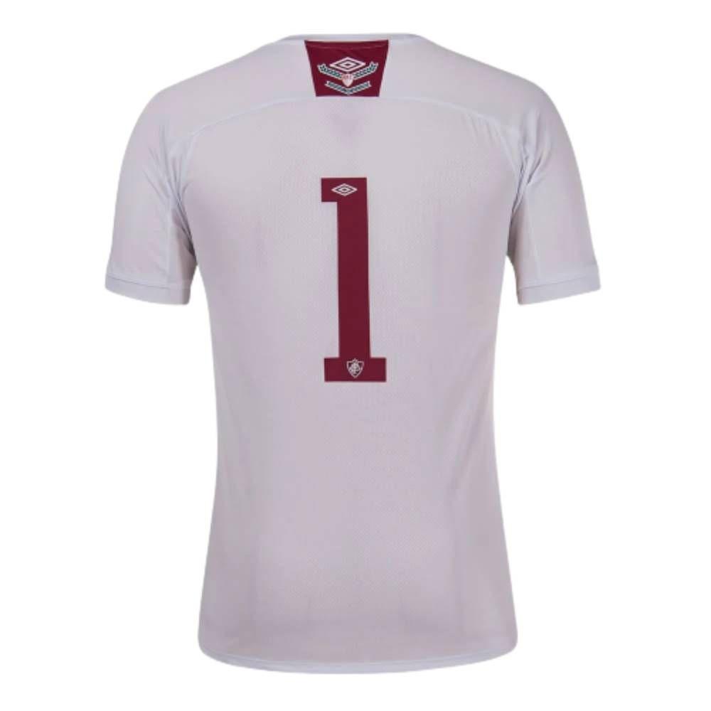 Camisa Oficial Fluminense Goleiro 20/21 Masculino Branco Vermelho