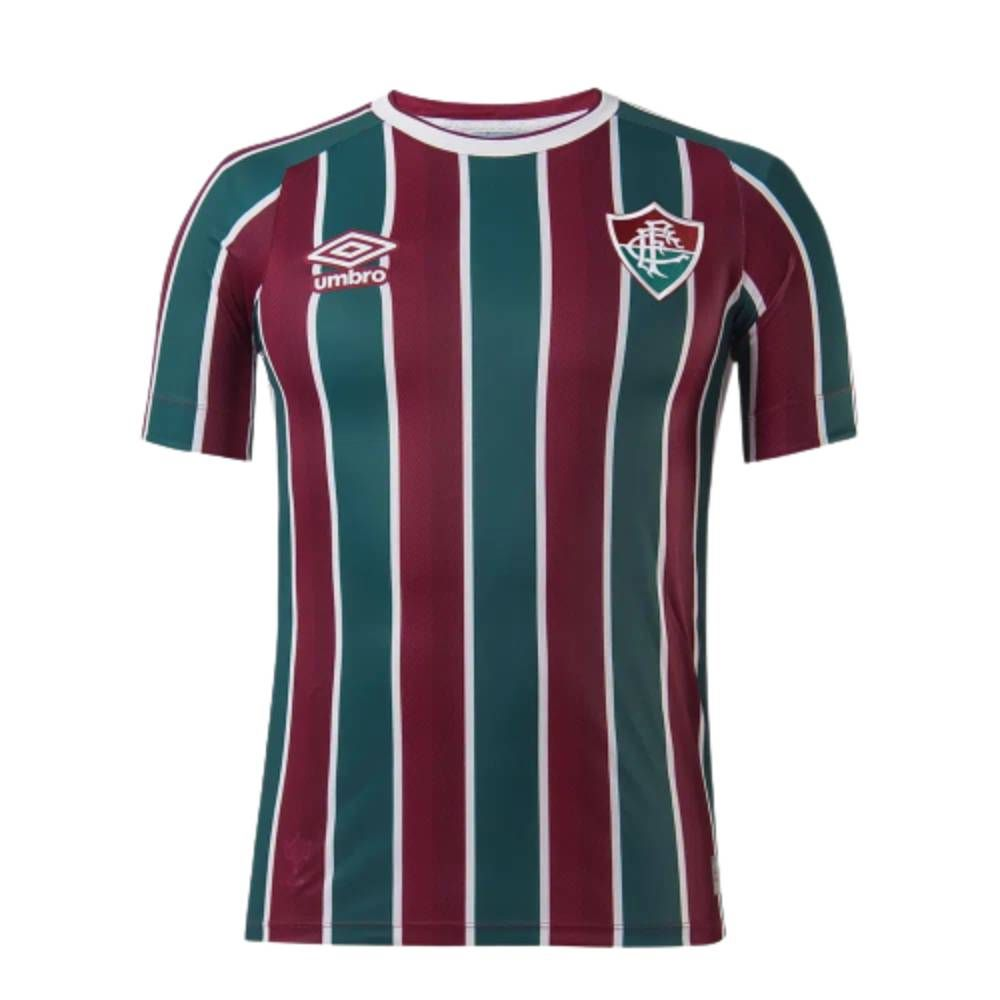 Camisa Oficial Fluminense I 21/22 Masculino Verde Bordô Branco