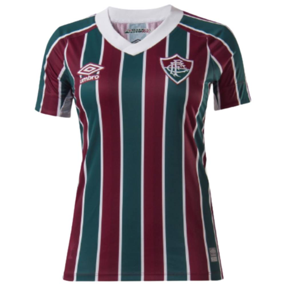 Camisa Oficial Fluminense I 21/22 Feminino Verde Bordô Branco