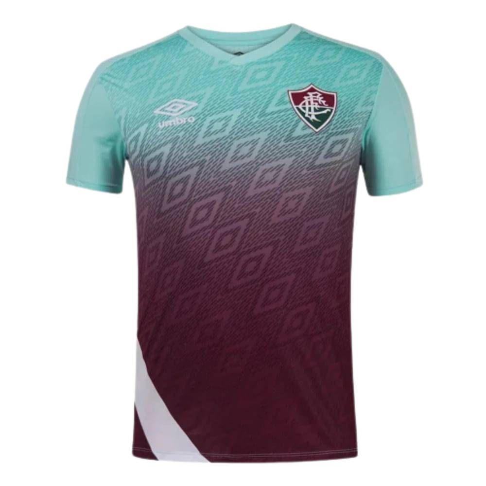 Camisa Oficial Fluminense Treino 20/21 Masculino Verde Bordô