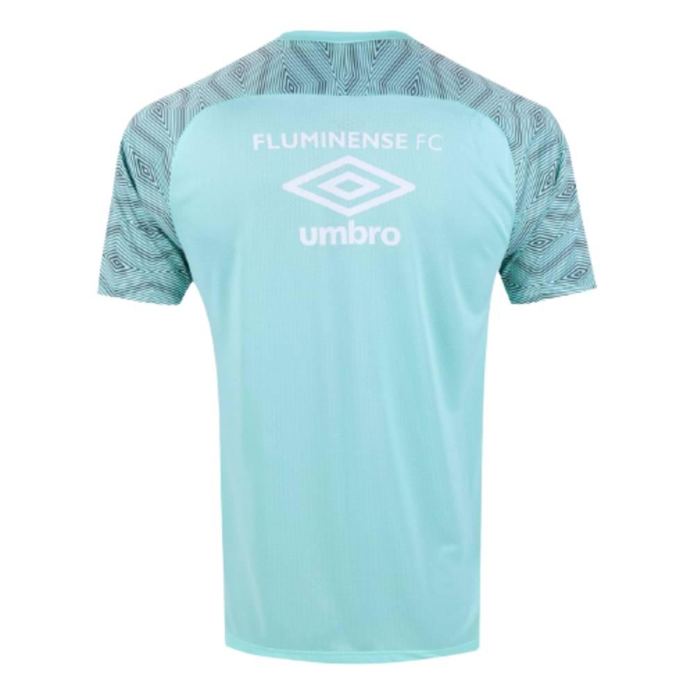 Camisa Oficial Fluminense Treino 21/22 Masculino Verde Cinza