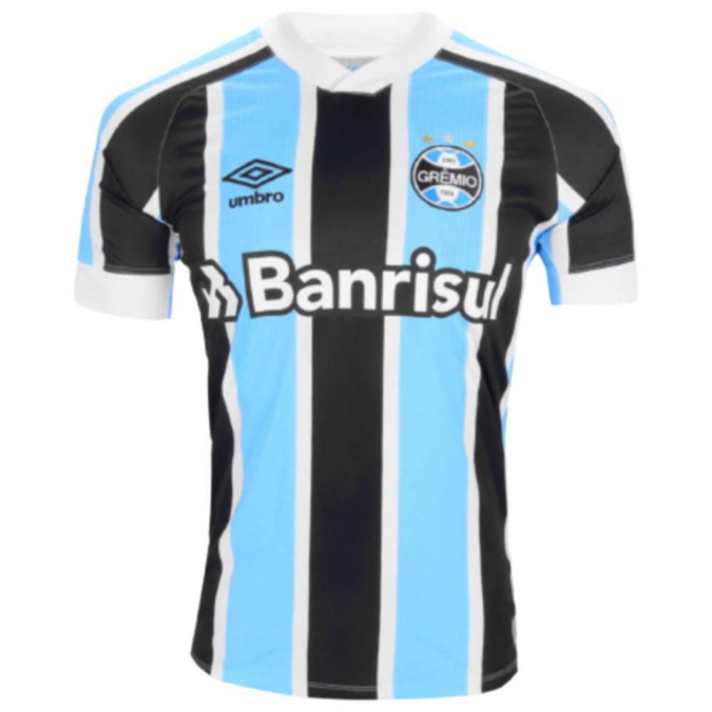 Camisa Oficial Grêmio I 21/22 Masculino Azul Branco