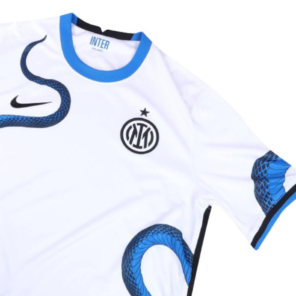 Camisa Oficial Inter de Milão II 21/22 Masculino Branco Azul