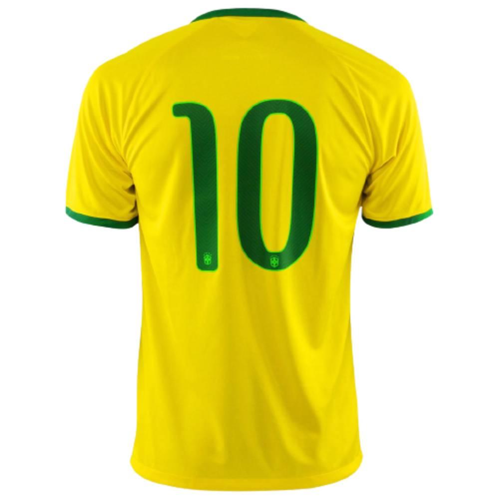 Camisa Oficial Brasil 13/14 Nº10 Masculino Verde Amarelo