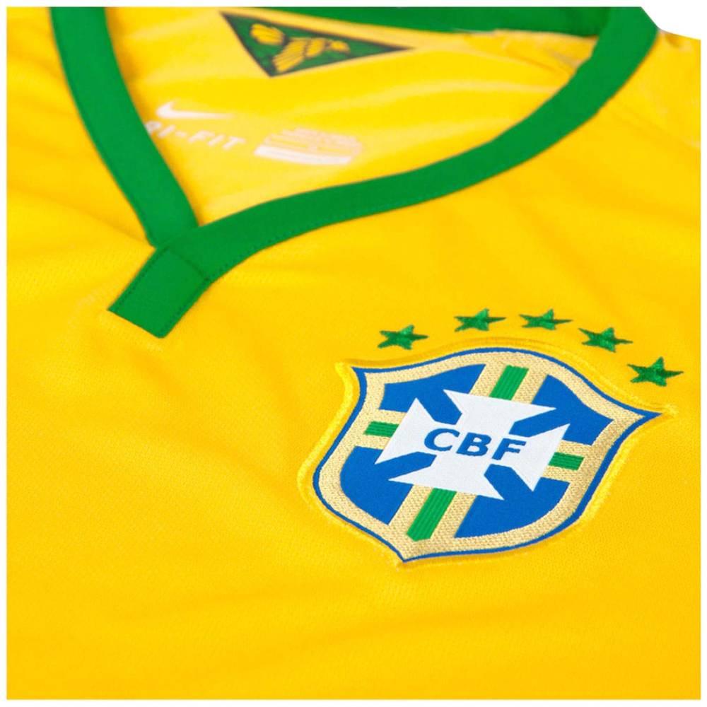 Camisa Oficial Brasil 13/14 Masculino Verde Amarelo