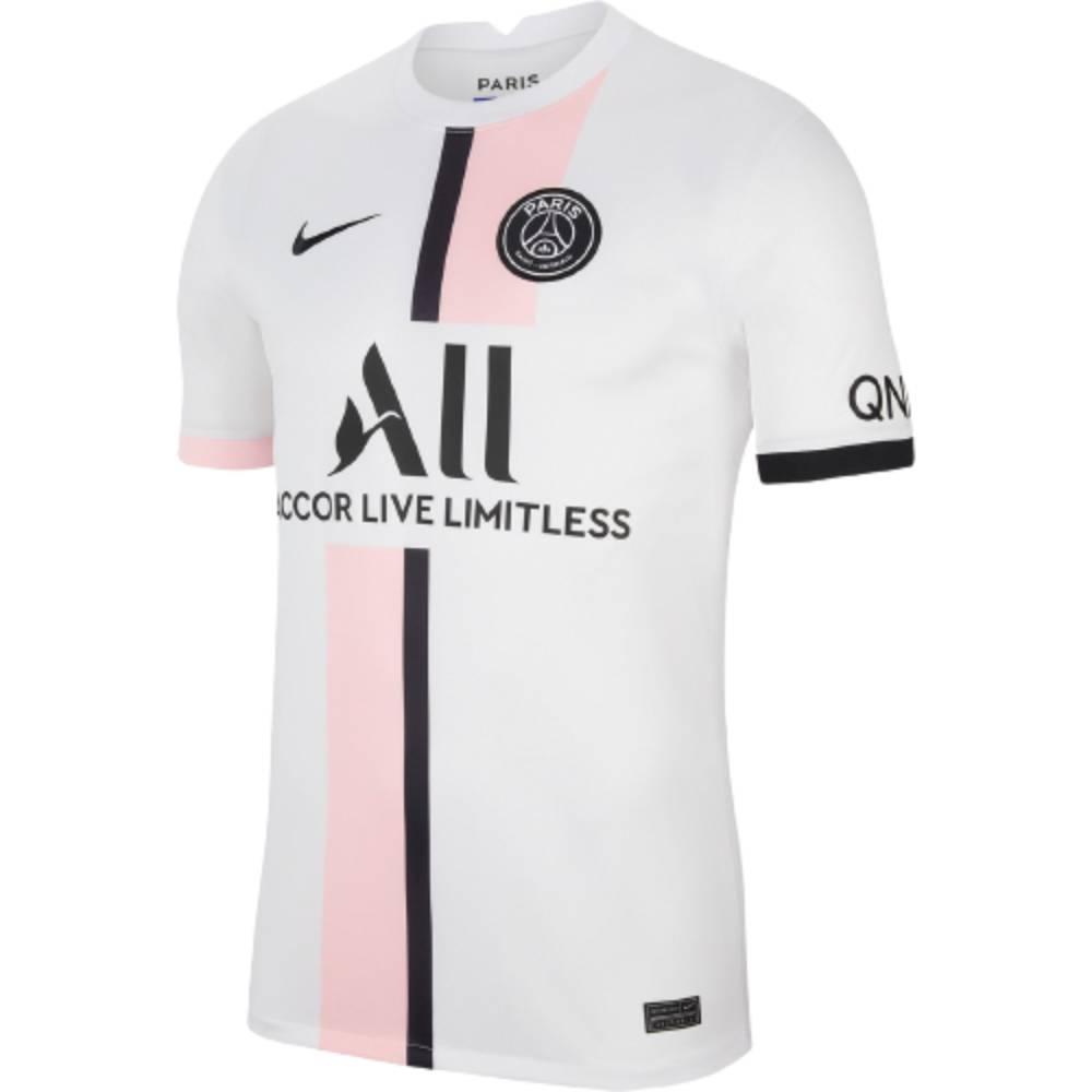 Camisa Oficial Paris Saint-Germain II 21/22 Masculino Branco Preto Rosa