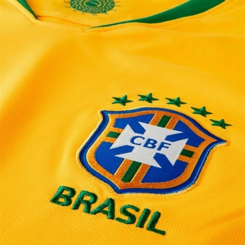Camisa Oficial Brasil I 18/19 Masculino Amarelo