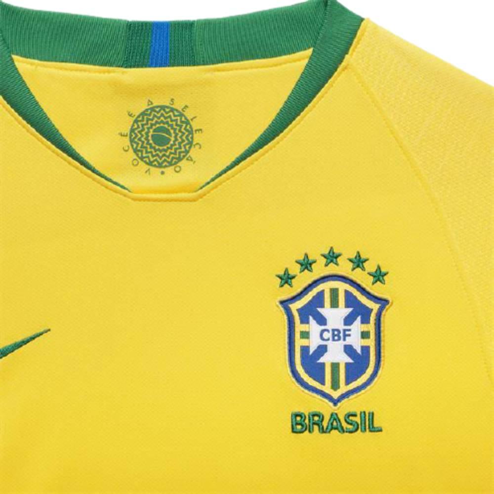 Camisa Oficial Brasil I 18/19 Infantil Amarelo