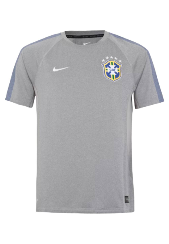 Camisa Oficial Brasil Treino Masculino Cinza