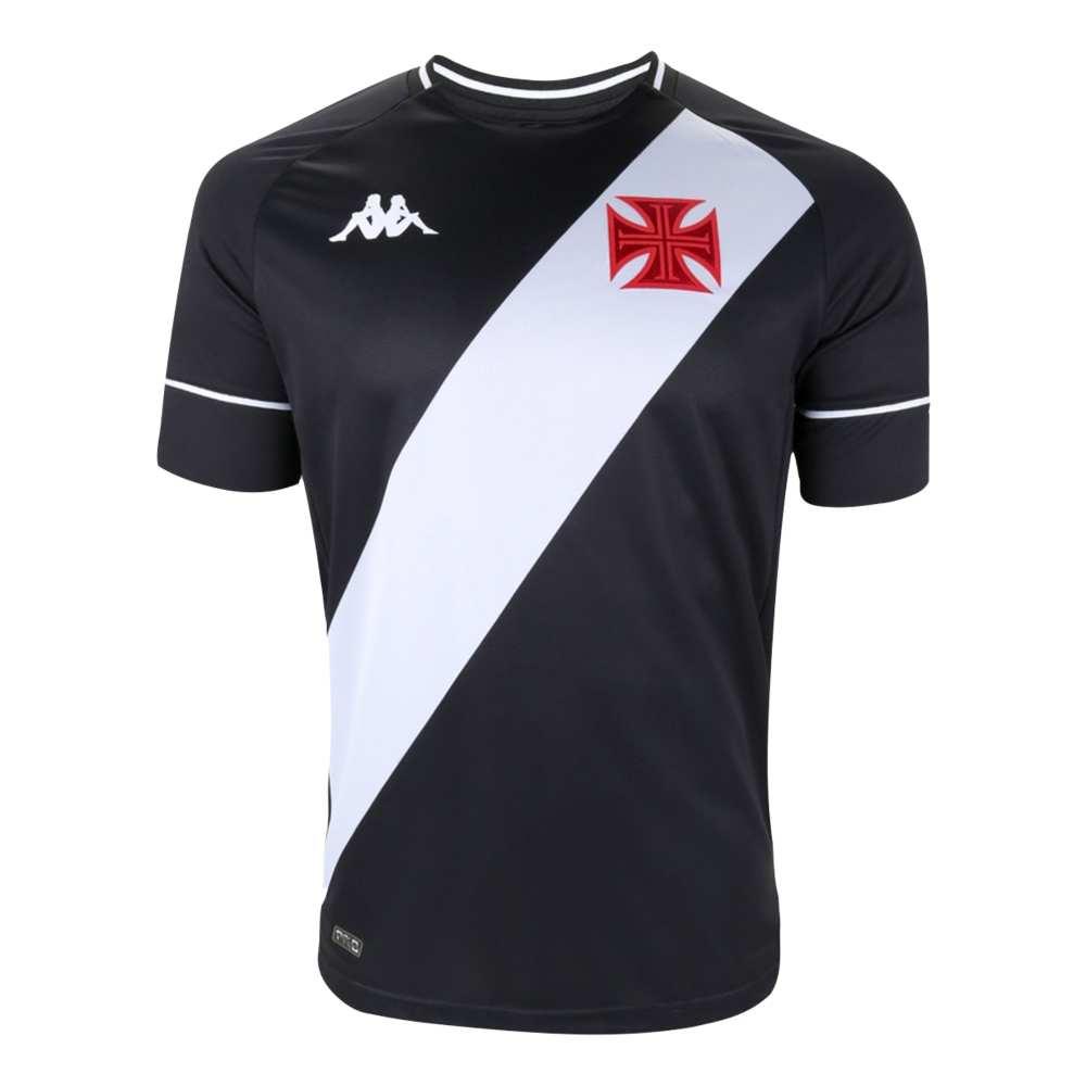 Camisa Oficial Vasco da Gama I 20/21 Masculino Preto Branco