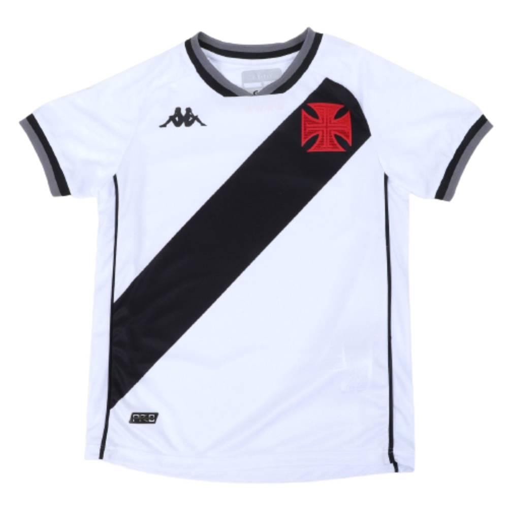 Camisa Oficial Vasco da Gama II 21/22 Infantil Branco Preto