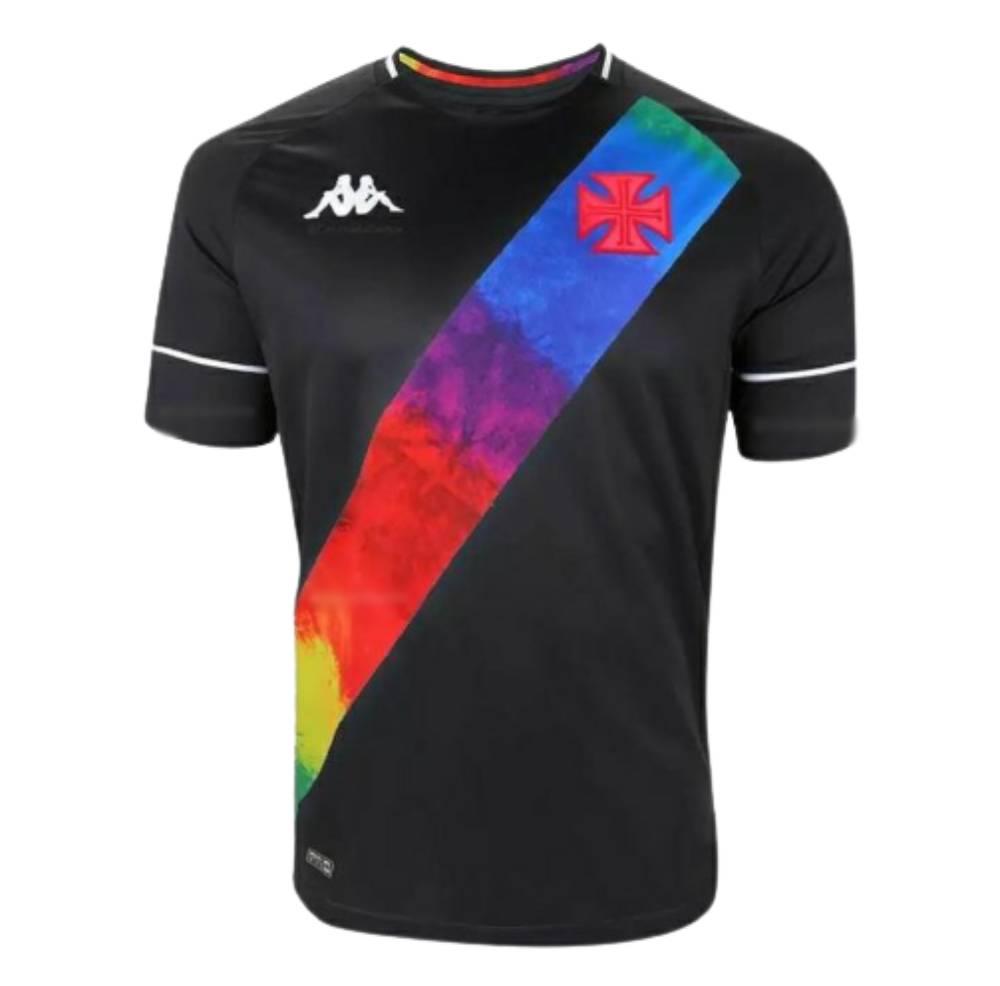 Camisa Oficial Vasco da Gama l LGBTQIA+ 21/22 Feminina Preta