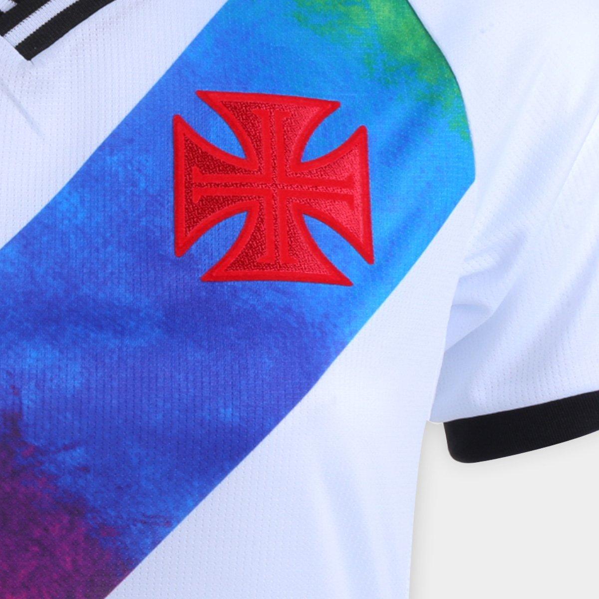 Camisa Oficial Vasco da Gama LGBTQIA+ 21/22 Feminina Branca