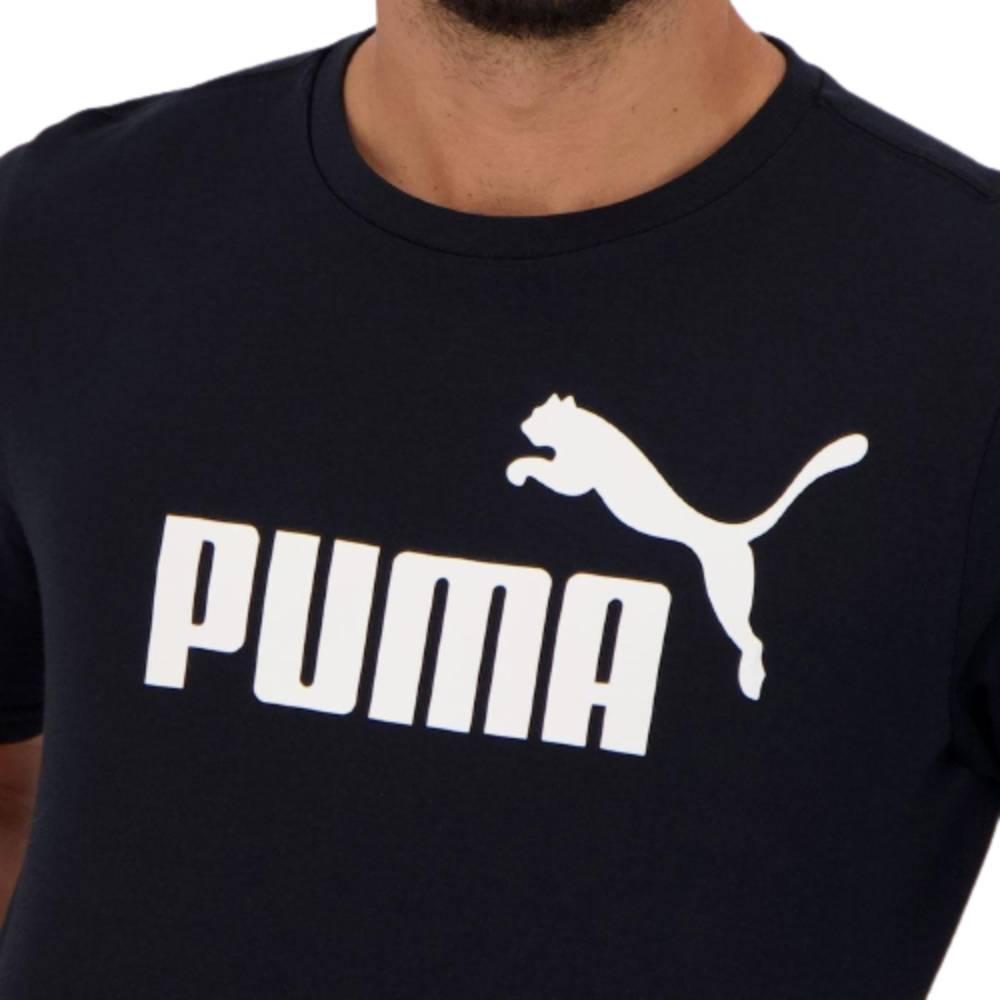 Camisa Puma Essential Big Preto Branco