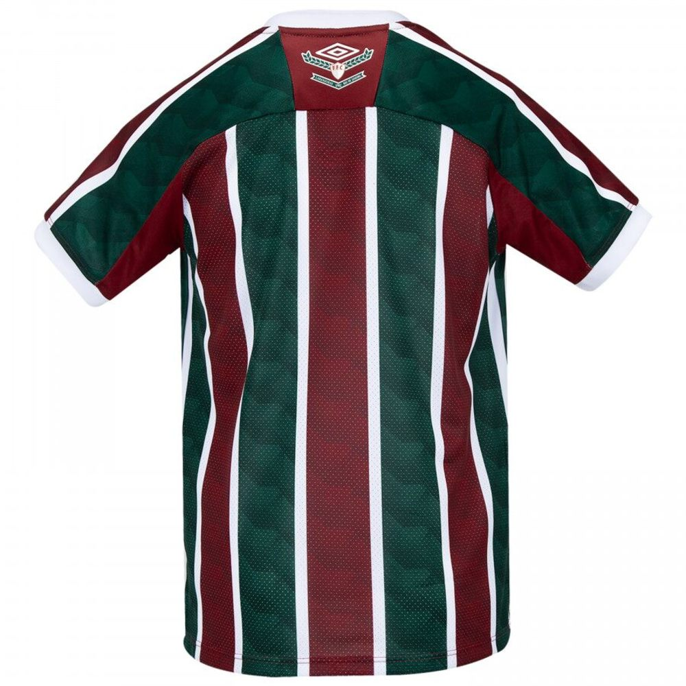 Camisa Oficial Fluminense I 20/21 Infantil Verde Vermelho Branco