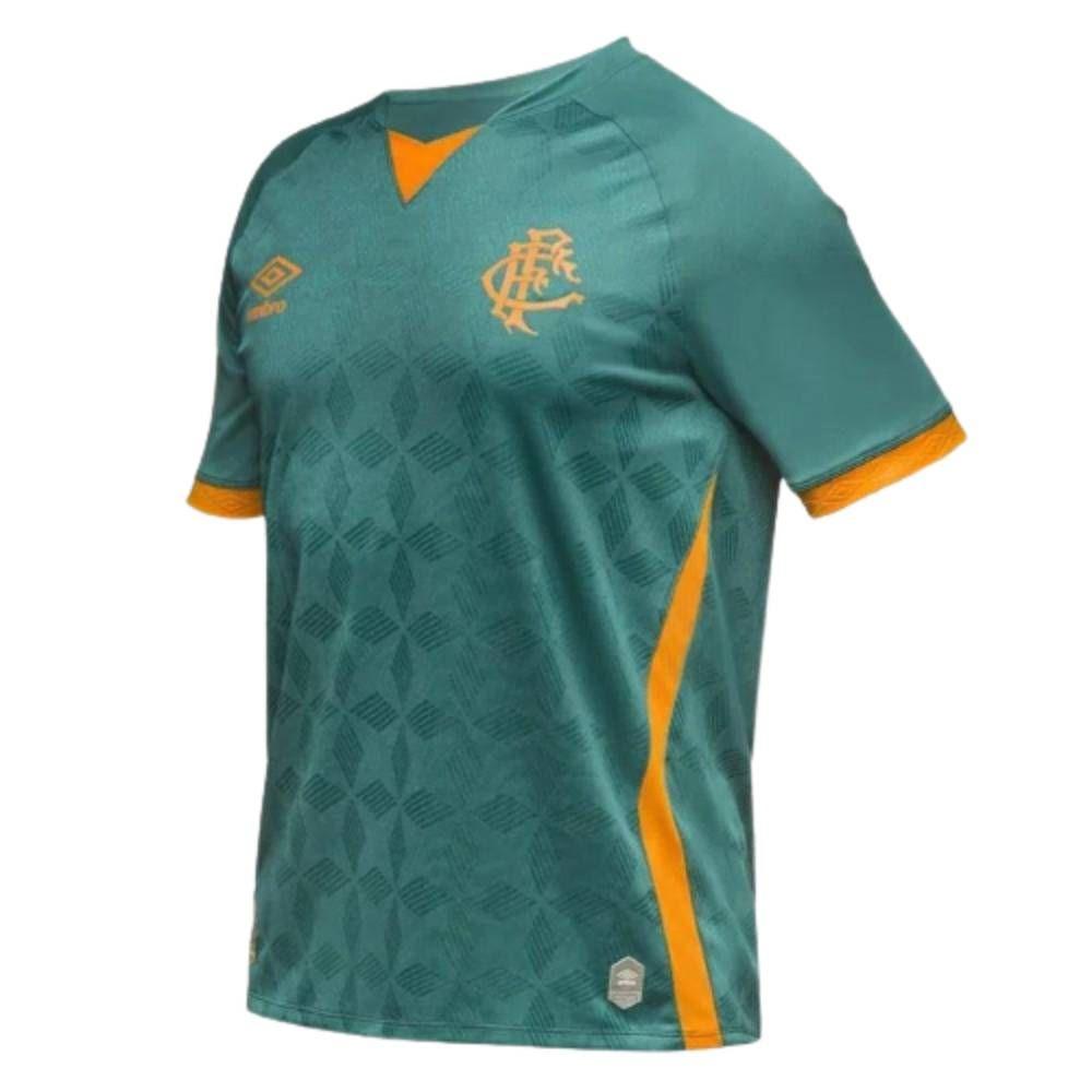 Camisa Oficial Fluminense III 20/21 Nº 10 Masculino Verde Laranja