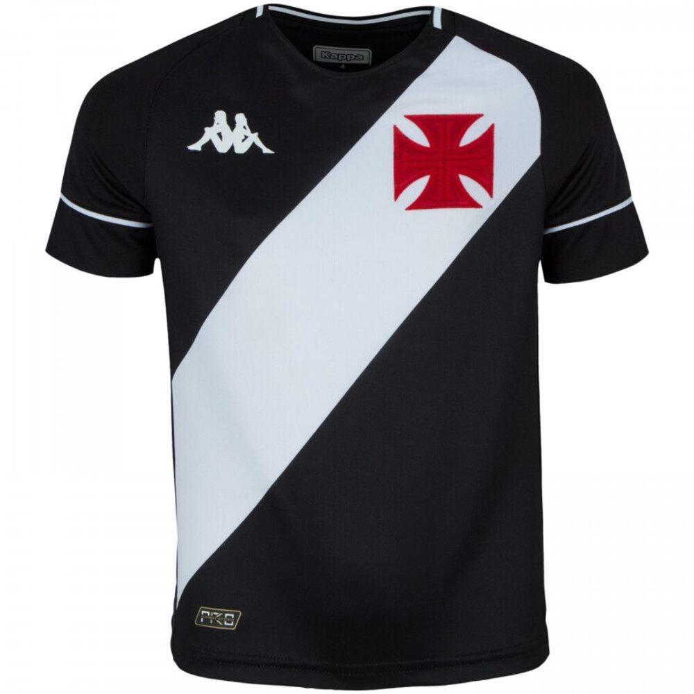 Camisa Oficial Vasco da Gama I 20/21 Infantil Preto Branco