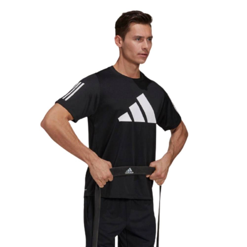 Camiseta Adidas Freelift 3 Bar Masculina Preto e Branco