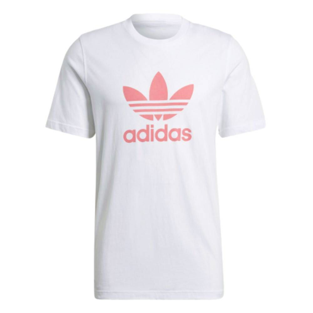 Camiseta Adidas Originals Trefoil - Branco/Rosa