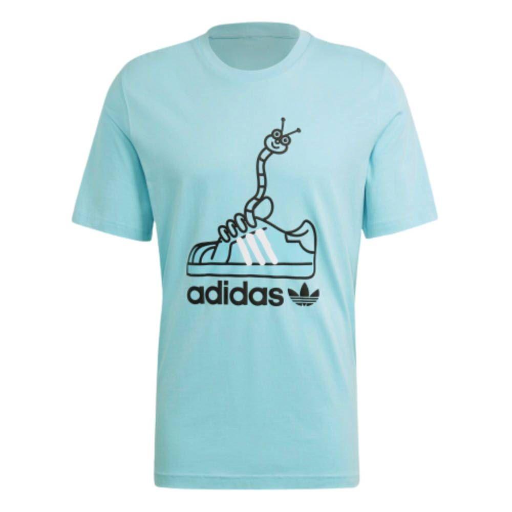 Camiseta Adidas Originals Worm Shoe - Azul/Preto