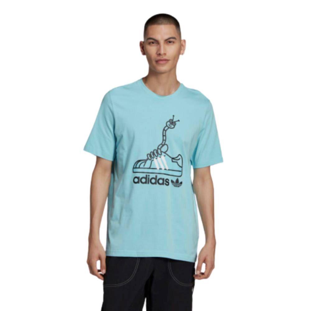 Camiseta Adidas Originals Worm Shoe  Azul Preto