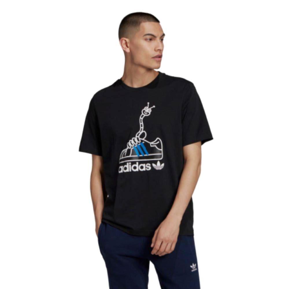 Camiseta Adidas Originals Worm Shoe - Preto/Branco