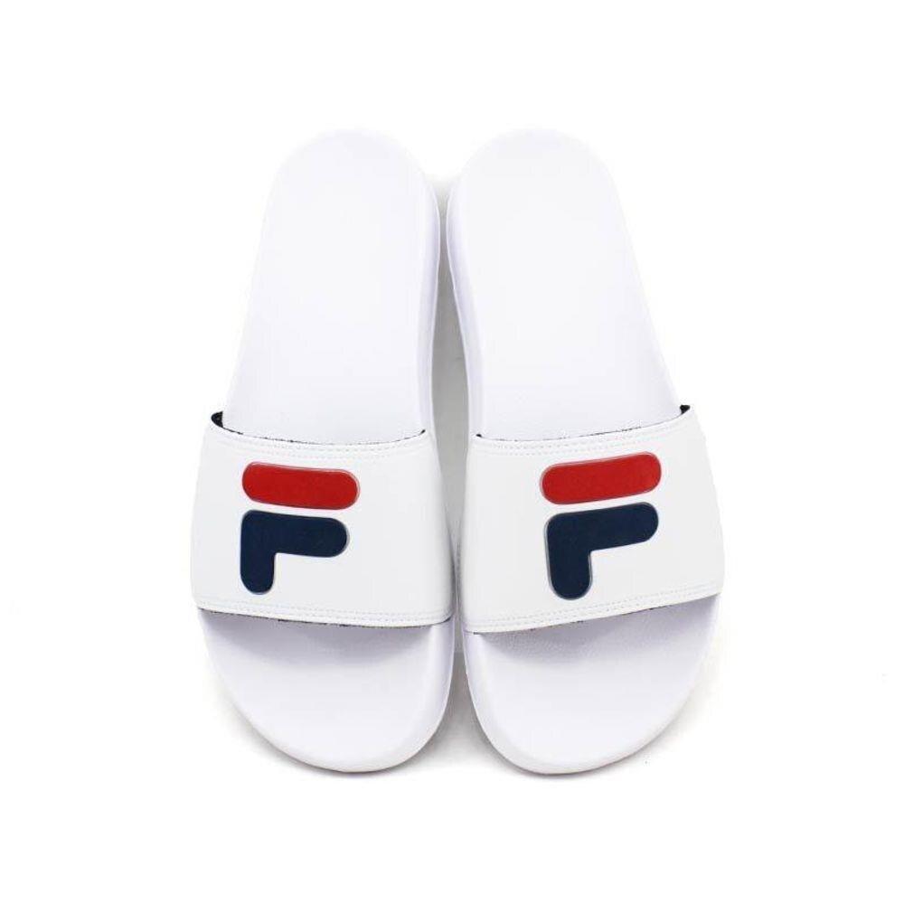 Chinelo Fila Drifter Basic - Slide - Masculino - Branco, Vermelho e Azul